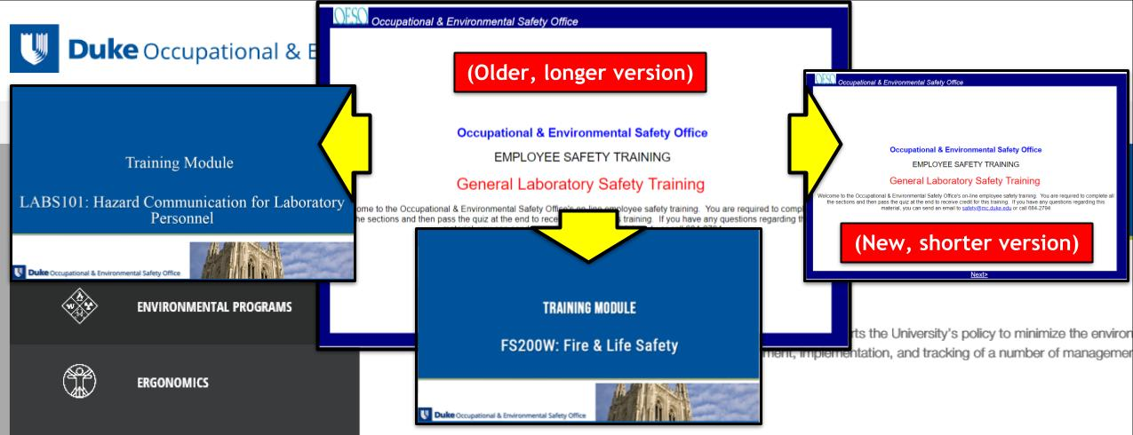 Duke Occupational Environmental Safety Office